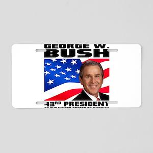 43 GW Bush Aluminum License Plate