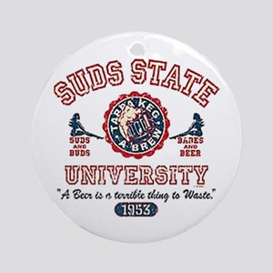 Suds State University Ornament (Round)