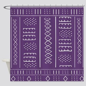 Purple Mudcloth Pattern Shower Curtain