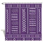Purple Mudcloth Pattern Shower Curtain