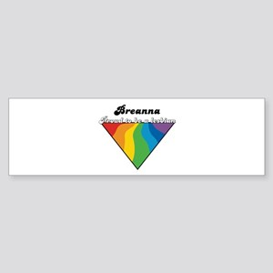 Breanna: Proud Lesbian Bumper Sticker