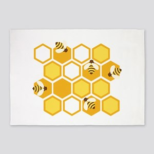 Honey Bee Hive 5'x7'Area Rug