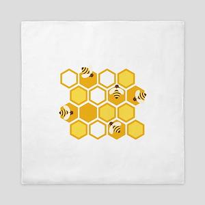 Honey Bee Hive Queen Duvet