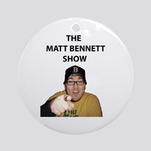 Matt Bennett Pointing Finger Ornament (Round)