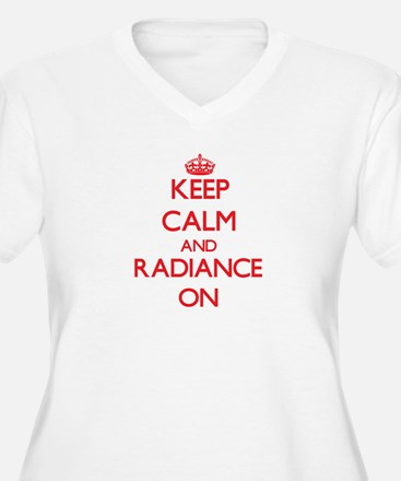 Keep Calm and Radiance ON Plus Size T-Shirt