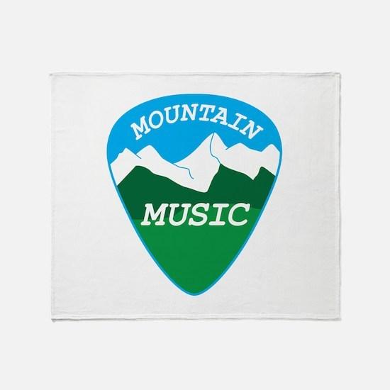 Mountain music guitar pick Throw Blanket