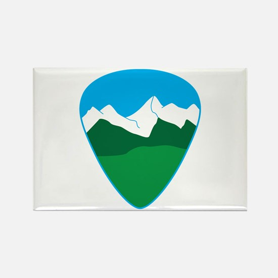 Mountain guitar pick Magnets