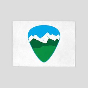Mountain guitar pick 5'x7'Area Rug