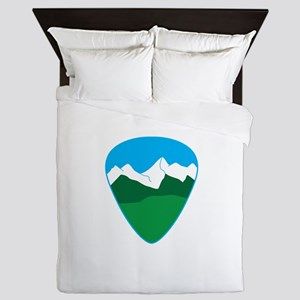 Mountain guitar pick Queen Duvet