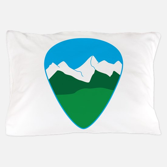 Mountain guitar pick Pillow Case