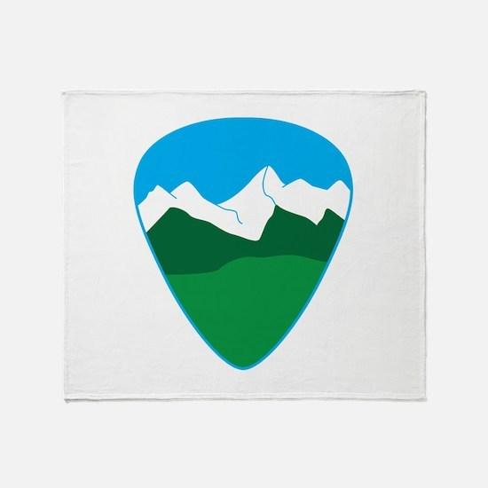 Mountain guitar pick Throw Blanket