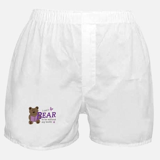Bear book lover Boxer Shorts