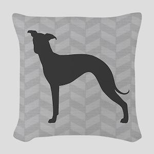 Italian Greyhound Woven Throw Pillow