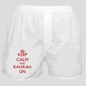 Keep Calm and Rah-Rah ON Boxer Shorts