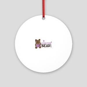 Storytime bear Ornament (Round)