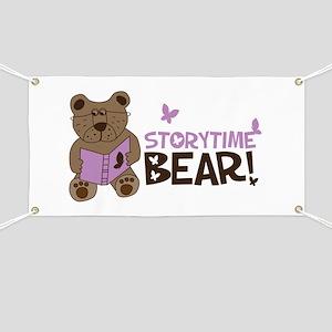 Storytime bear Banner