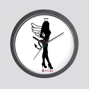 Standing Silhouette Angel Wall Clock