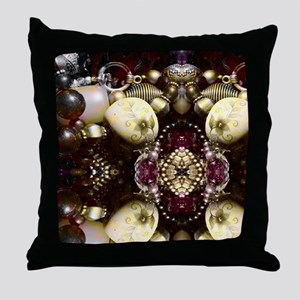 Steampunk Beads Throw Pillow