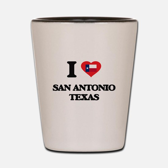 I love San Antonio Texas Shot Glass