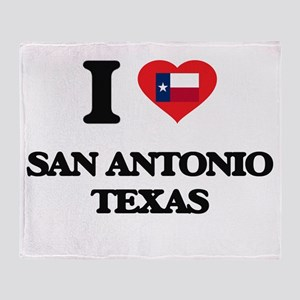 I love San Antonio Texas Throw Blanket