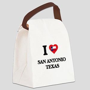 I love San Antonio Texas Canvas Lunch Bag
