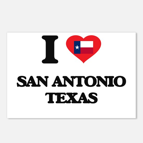 I love San Antonio Texas Postcards (Package of 8)