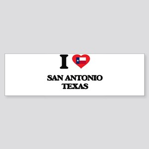I love San Antonio Texas Bumper Sticker