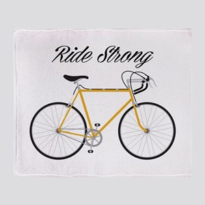 Ride strong Throw Blanket
