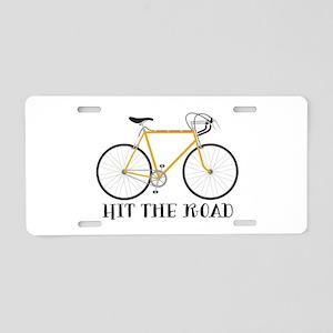 Hit The Road Aluminum License Plate