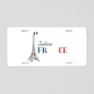 Jadore France Aluminum License Plate