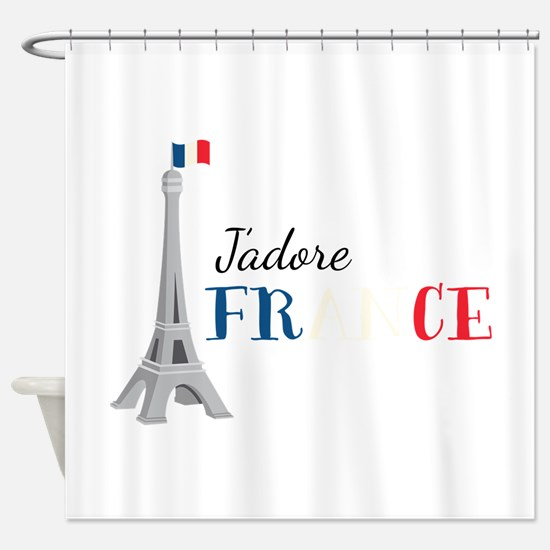 Jadore France Shower Curtain