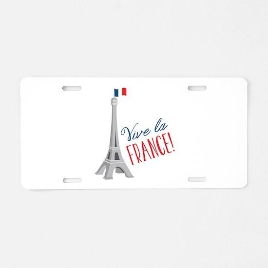 Riva La France Aluminum License Plate