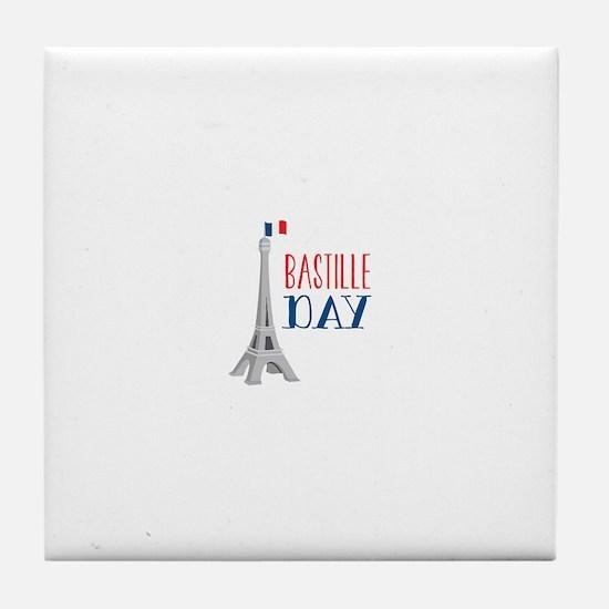 Bastille Day Tile Coaster