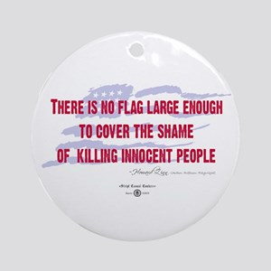 Howard Zinn Quote Ornament (Round)