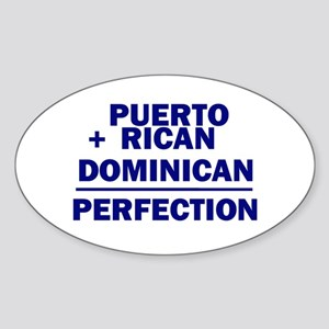 Dominican + Puerto Rican Oval Sticker
