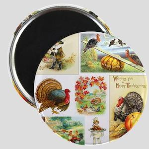 Thanksgiving Vintage Medley Magnet