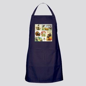 Thanksgiving Vintage Medley Apron (dark)