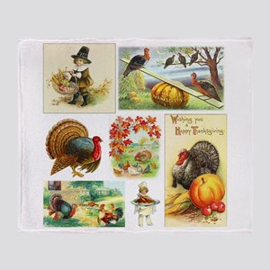 Thanksgiving Vintage Medley Throw Blanket