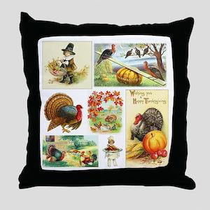 Thanksgiving Vintage Medley Throw Pillow