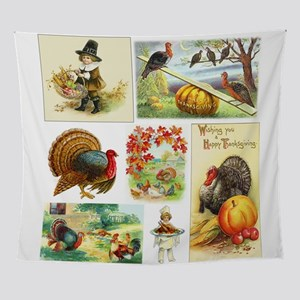 Thanksgiving Vintage Medley Wall Tapestry