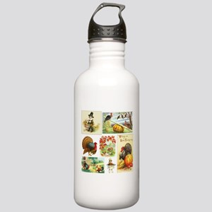 Thanksgiving Vintage M Stainless Water Bottle 1.0L