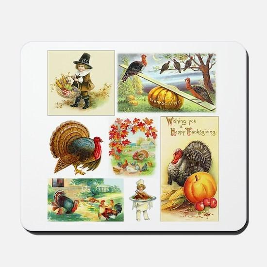 Thanksgiving Vintage Medley Mousepad