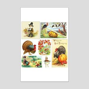 Thanksgiving Vintage Medley Mini Poster Print