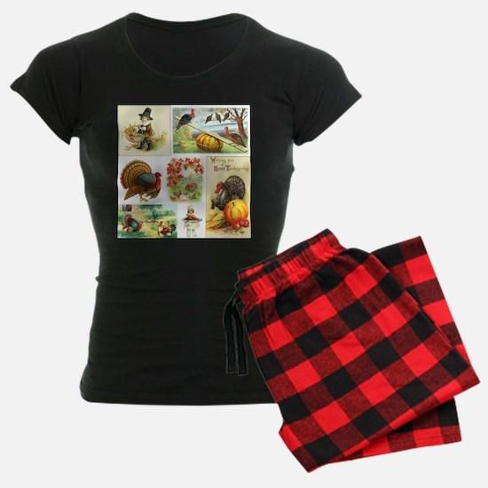 Thanksgiving Vintage Medley Pajamas