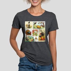 Thanksgiving Vintage Medl Womens Tri-blend T-Shirt