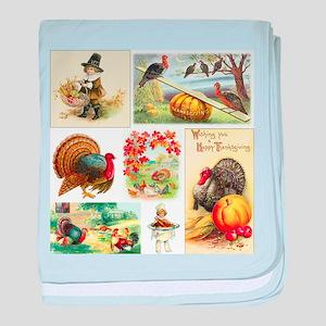 Thanksgiving Vintage Medley baby blanket