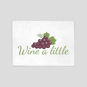 Wine a little 5'x7'Area Rug