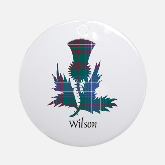 Thistle-Wilson Round Ornament