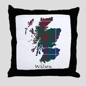 Map-Wilson Throw Pillow