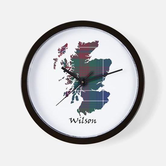 Map-Wilson Wall Clock